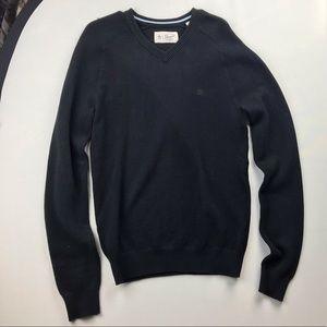 Penguin Black V-neck Sweater
